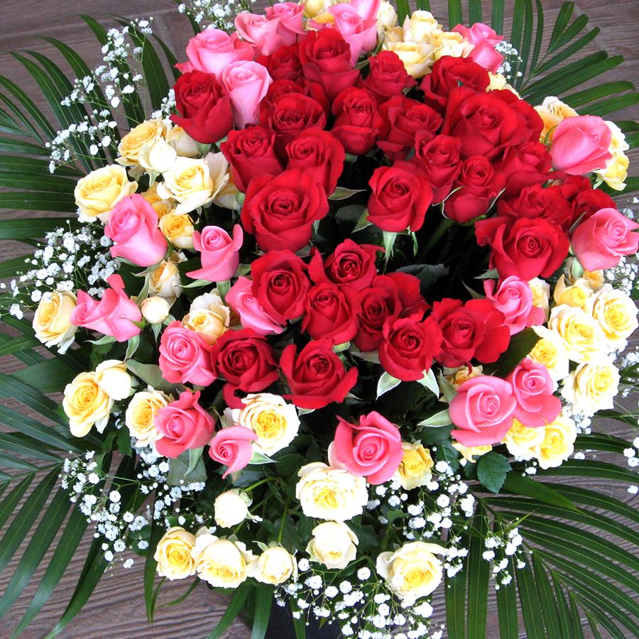 バラ59本 ミックス花束